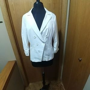 Cream blazer from Maurices